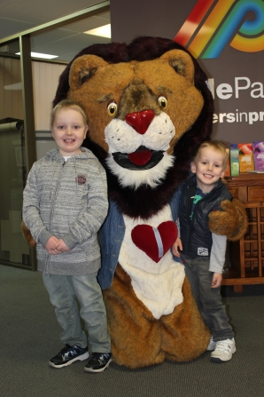 """Our two young heart warriors that inspired the book """"Patch the brave heart lion"""""""