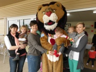 "Patch enjoying himself at a recent Heartkids ""Cuppa for Kids"" morning."