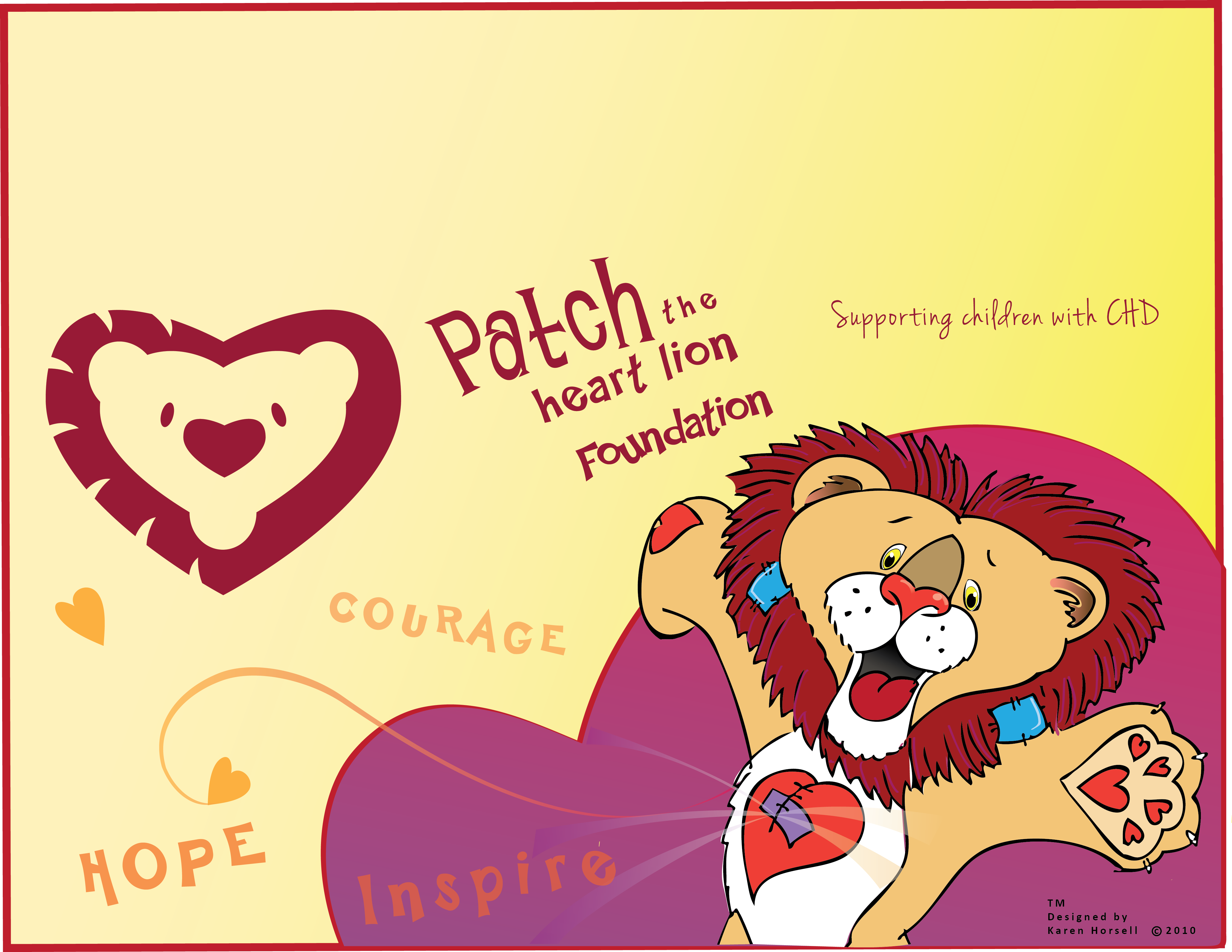 Patch  the heart lion